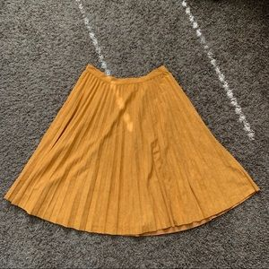 orange suede skirt